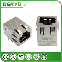China supplier KRJ-H111ENL Metal Shield 8p8c without transformer RJ45 female connector