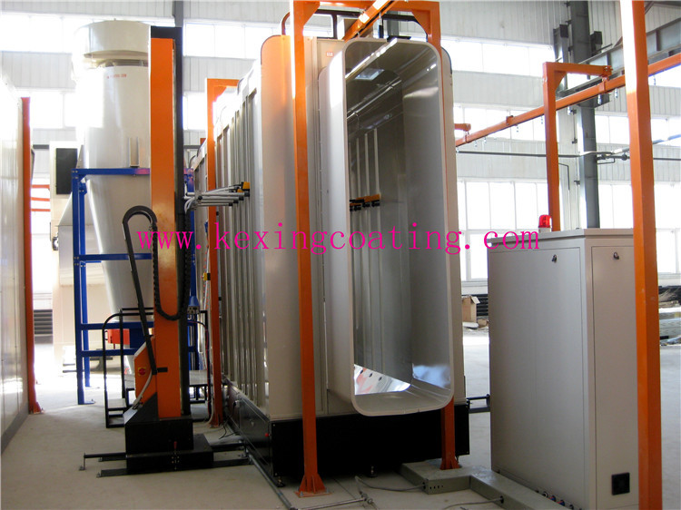 2018 CE automatic powder coating line price for steel/aluminum profile