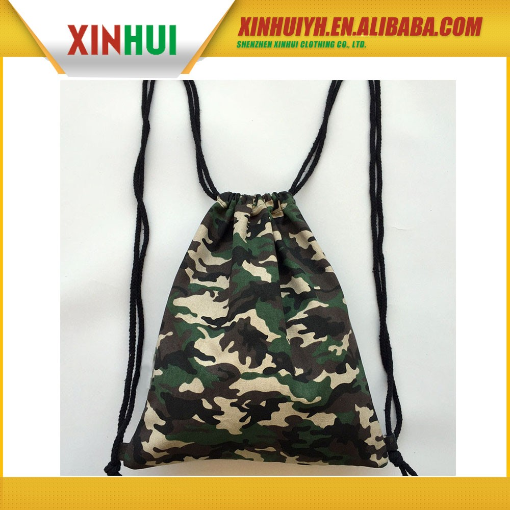 Wholesale china small hemp draw string bags