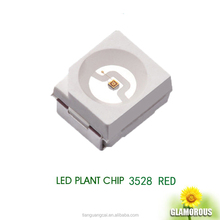 Hot sale factory direct price led plant growth light 3528 660nm 0.06W red 20mA 3528 smd led 3528led plant grow