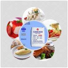 good price food grade titanium dioxide / tio2 A200 manufacturer for food addititve