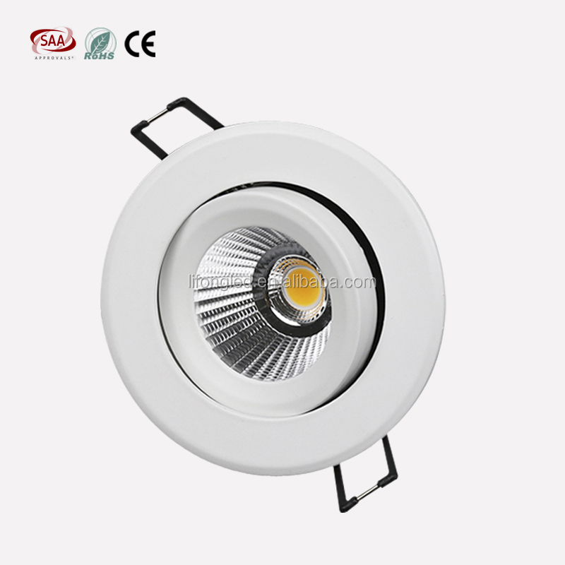 RA97 TRUE WHITE 9W LED Adjustable Downlight, LED <strong>SPOTLIGHT</strong> with 3 years warranty