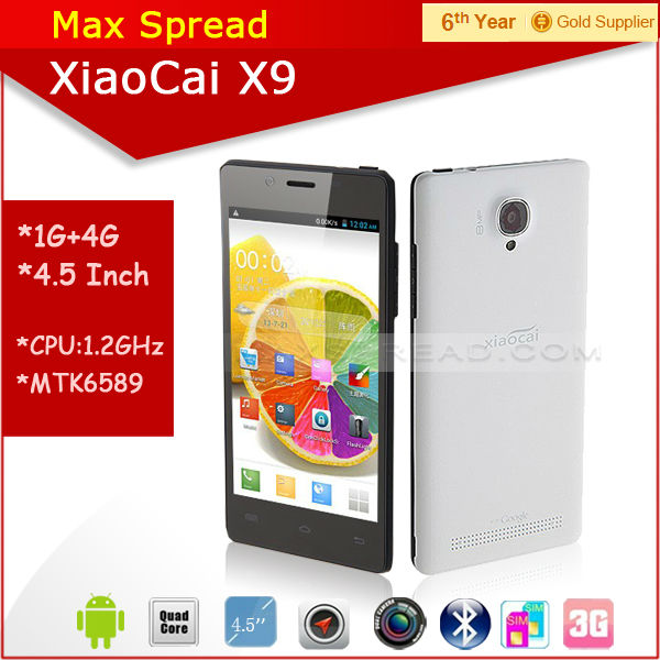 Hottest!! 5inch QHD Screen Xiaocai X9 1gb ram 4gb rom mtk6582 1.3GHz quad core android smart phone