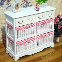 Wholesale unfinished furniture wood corner cabinet European Rural Organize ark Solid wood closet cabinet with drawers