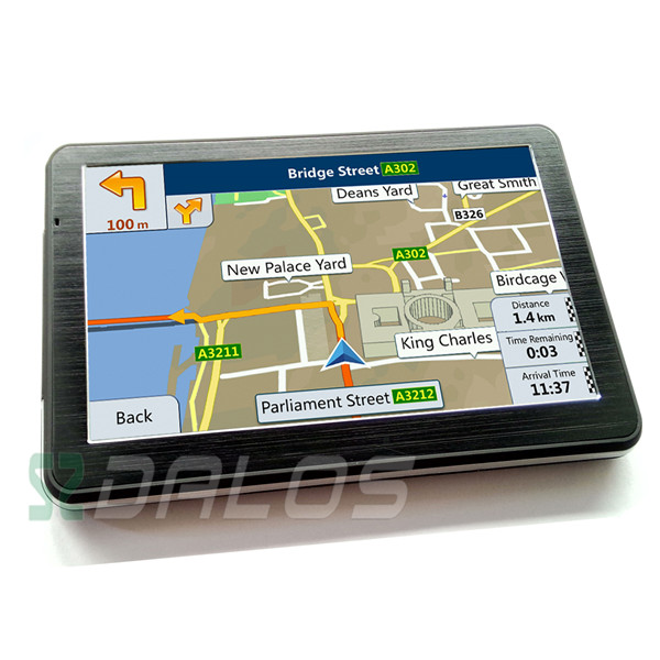 WinCE NET 6.0 SDRAM 128MB sat nav 7 inch slim car gps multimedia moto navigation