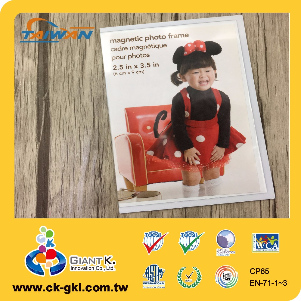 Plastic PVC magnetic photo frame magnet for promotional