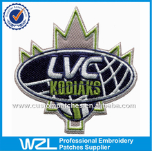 Handwork embroidery designs, stick-on embroidery letters logo patches