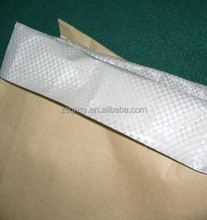 Kraft paper sack with pp woven film for plastic raw material ,plastic compound kraft paper bag 25kg