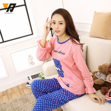 Women Cotton Animal Pajamas Set Girls Cute Lovely Bear Pyjamas Sleepsuit Full Sleeves O-neck Nightwear House Clothing
