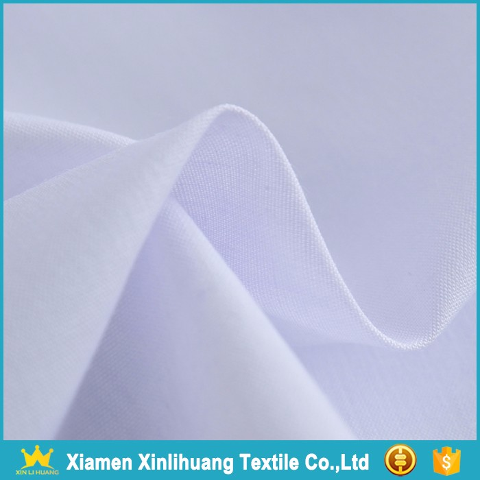 2017 Latest Product White Color 80 Polyester 20 Cotton Shirting Fabric