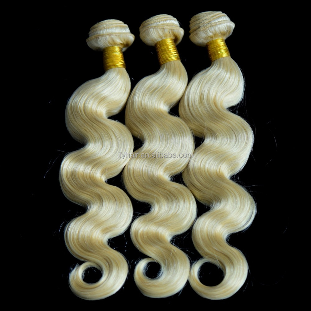 "20"" Straight Remy Human Hair Extensions Weft 100g #613 Bleach Blonde"