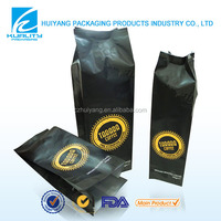Hot!!!Top Quality side gusset coffee bean bags with aluminum foil