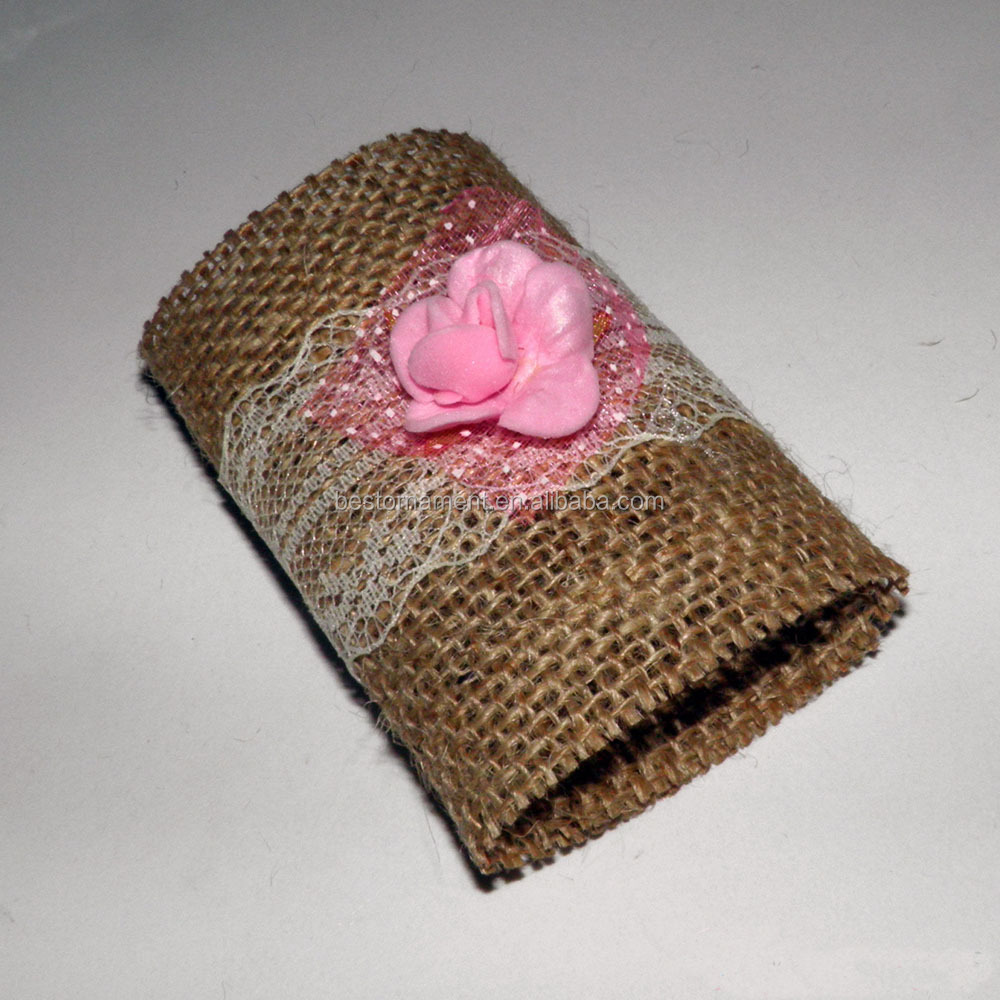 Homemade Burlap Napkin Rings