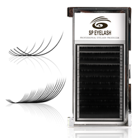 Wholesale 100% Individual 3d Mink Fur False Russian Volume Silk Faux Extension Eyelashes Lashes With Private Label