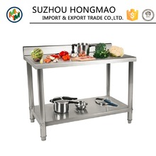 Multifunction Double Kitchen Stainless Steel Work Table