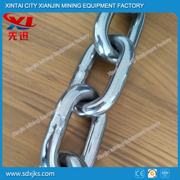 Welded iron link chain