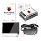 R07 Raspberry pi 3B 3 B+ 3.5inch LCD kit raspberry pi wireless usb wifi adapter 16g card 320*480 lcd 2 pcs heat sink
