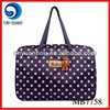 2014 polka dots purple baby nappy changing bag diaper bag