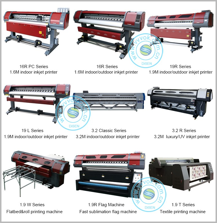 Dual print head DX5 1800mm high quality galaxy eco solvent printer