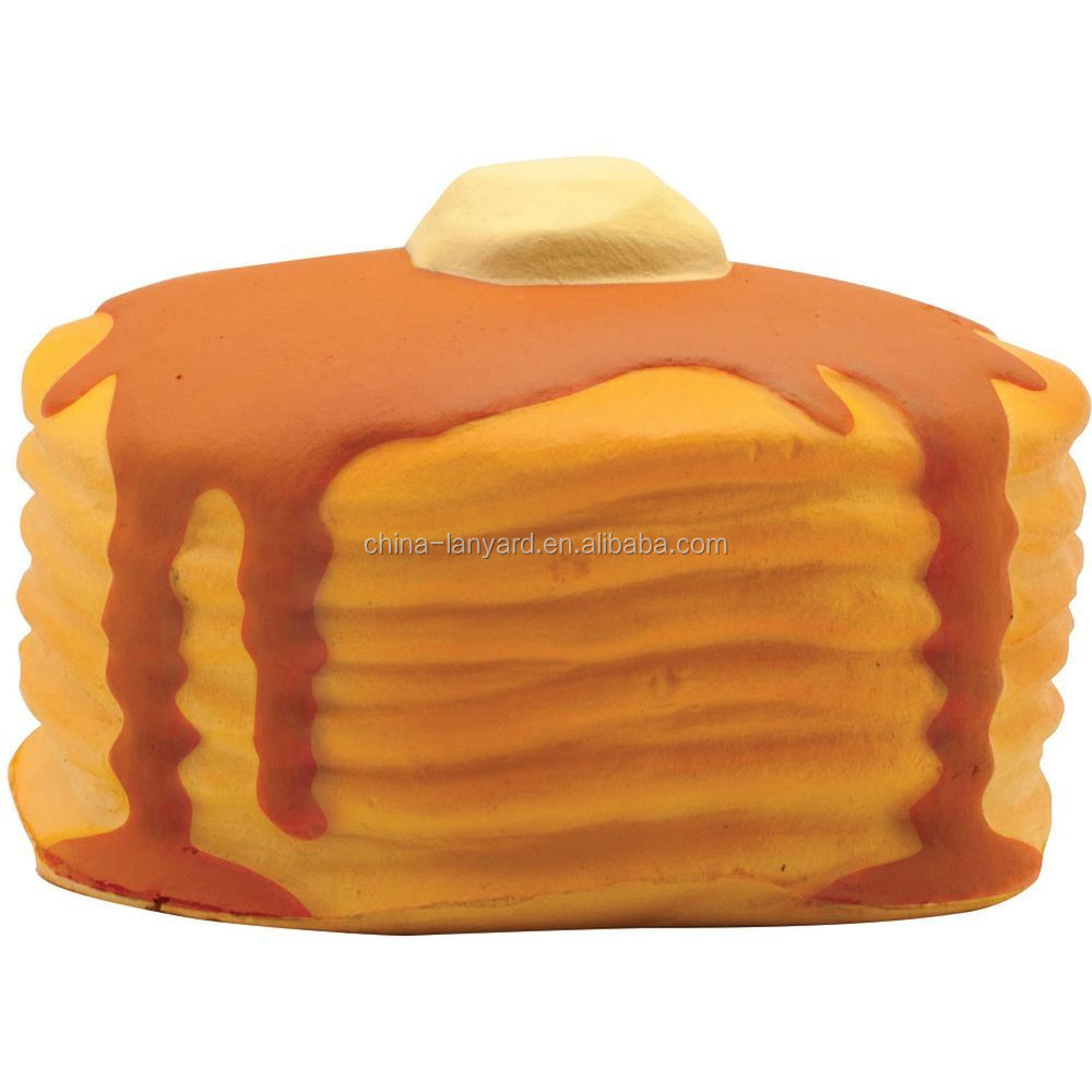 Promotional Stack of Pancakes Stress Reliever/Stack of Pancakes Stress Ball/Stack of Pancakes Stress Toy