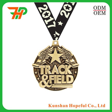 high quality custom large metal award medal medallion with ribbon