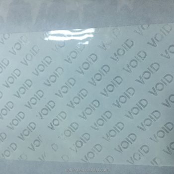 custom blank and retail tamper evident security seal stickers labels