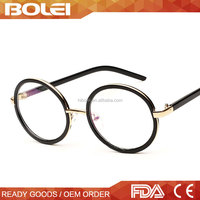 CE & FDA Titan Durable New Model Round Flat Optical Frame Eye Glasses Made in Korea