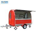High quality coffee trailer/food truck/snack food trailer with wheels for sale