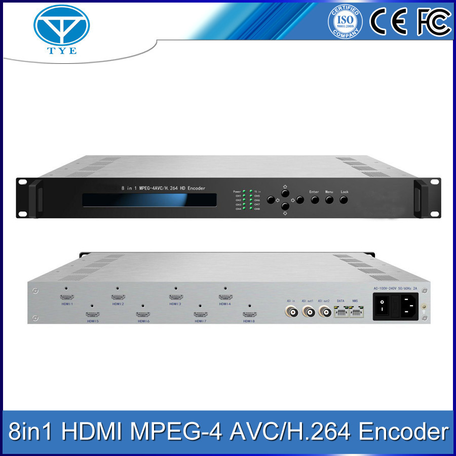 8 in 1 HD MPEG-4 AVC/H.264 Encoder