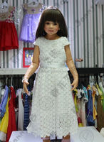 baby girl party dress children frocks designs white lace long dress