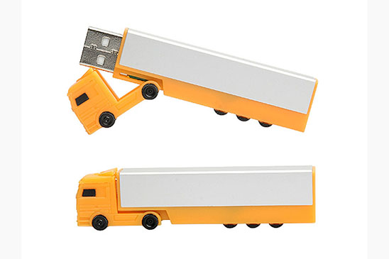 OEM Truck Shape Usb Flash Drive with Customized Logo 4GB 8GB