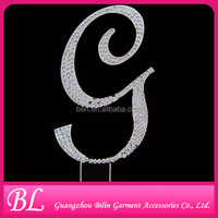 wedding decoration letter rhinestone cake topper cake stand crystal
