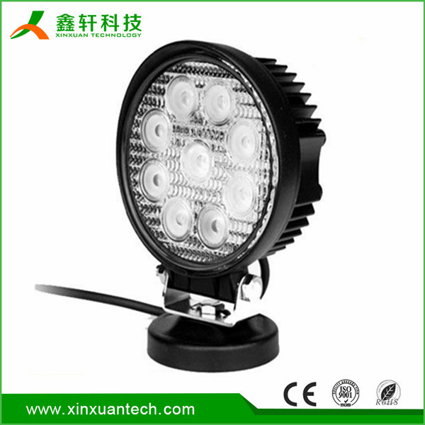 High quality 27 watt led work light light/ 12v 24v led work light/outdoor portable led work light 27w