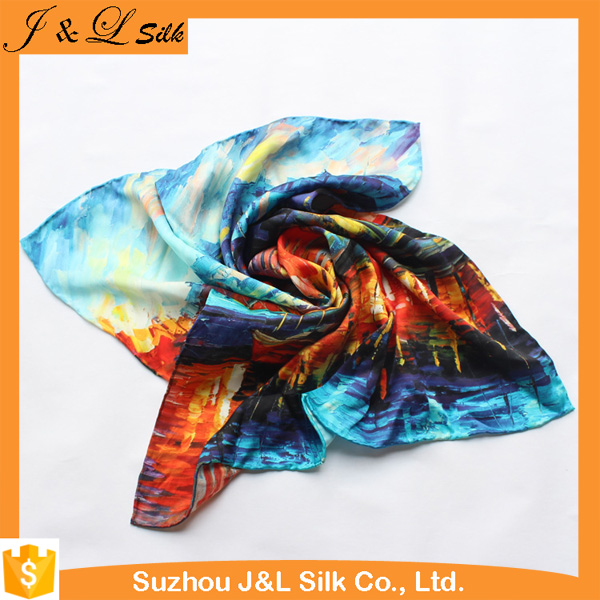 New Products 2016 Bright Colors Turkish Silk Scarf