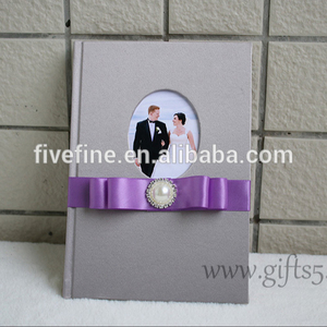 Guestbook for wedding with ribbon