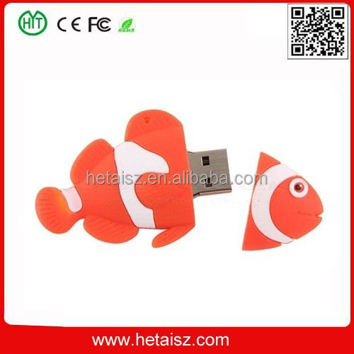 clownfish shaped usb flash drive, nemo 1gb/2gb/4gb/8gb usb pen drive driver download, nemo usb 4 gb