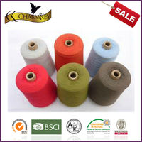 Dyed 100 polyester ring spun yarn