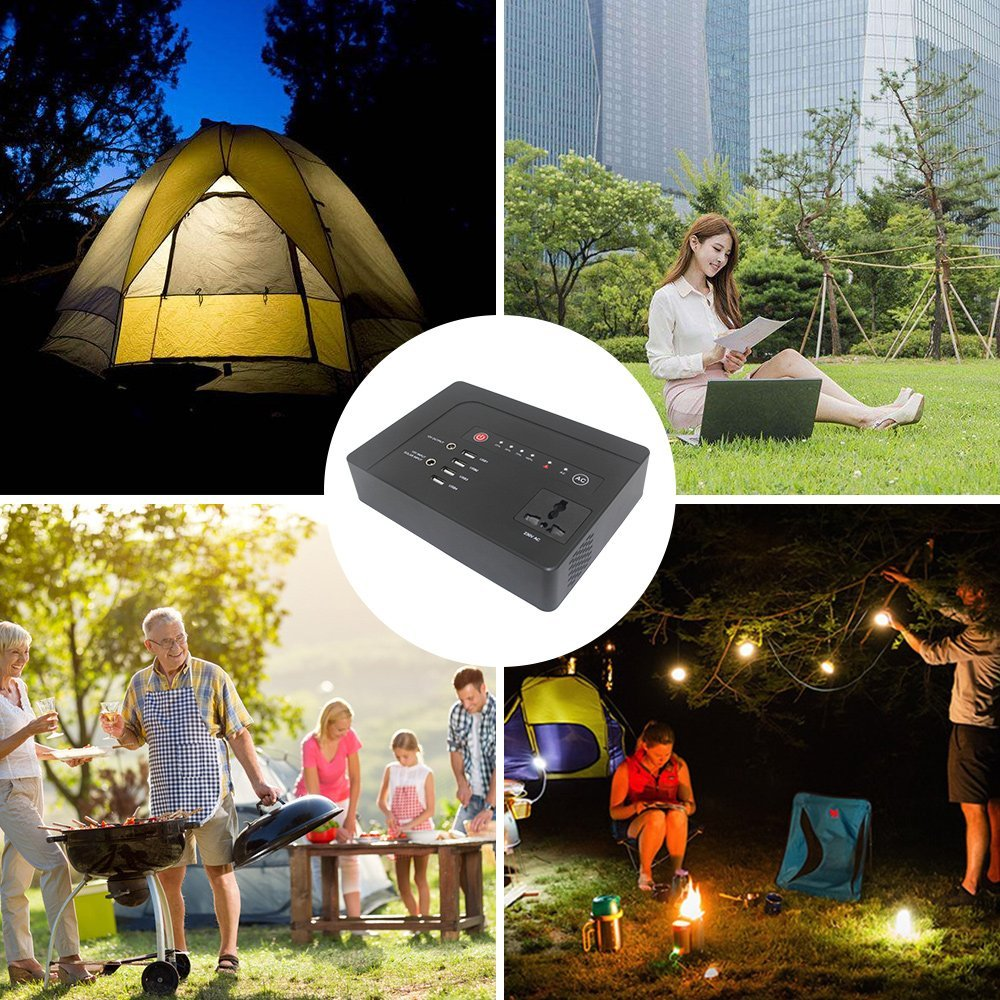 2018 Newest Laptop Solar PowerBank 39600mAh 200W 110/120/220/230V AC Outlet Lithium Battery Power Chargers