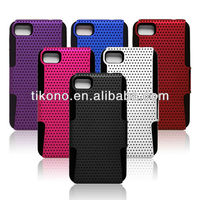 Fashion mesh double layer pc+tpu case for blackberry z10
