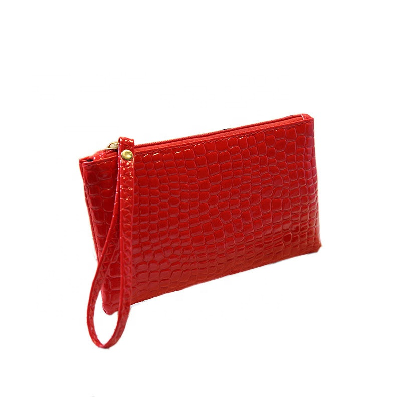 Long style wristlet purse coin holder small clutch handbag pu leather women <strong>wallet</strong>