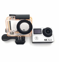 sports camera real 4K 30fps wide-angle fisheye 170 degree 12 MP underwater wifi app control OLED dual screen recoder