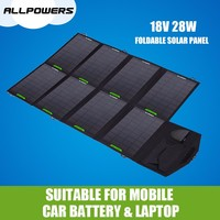 18V 28W Solar Panel Packs Outdoor Portable Foldable Solar Battery for mobile phone/tablet PC/laptop/battery etc.