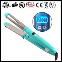2015 new design digital display ceramic nova curler with hair straightener