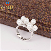 Most popular products china customized design jewelry fashion freshwater pearl rings crown shaped