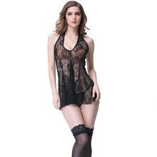"Women Ladies Nighty ""V"" Collar Lace bodysuit Backless Sexy Lingerie"