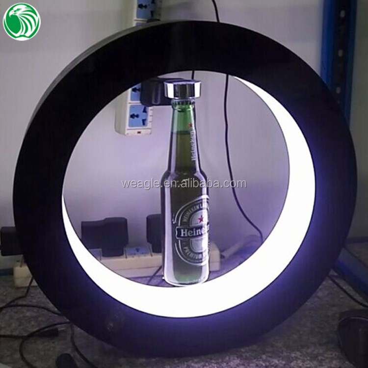Round shape base max load 500g magnetic levitation <strong>display</strong> stands for bottles