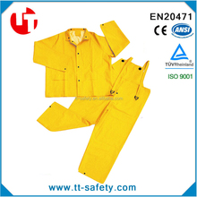 adult rainsuit waterproof yellow PVC raincoat