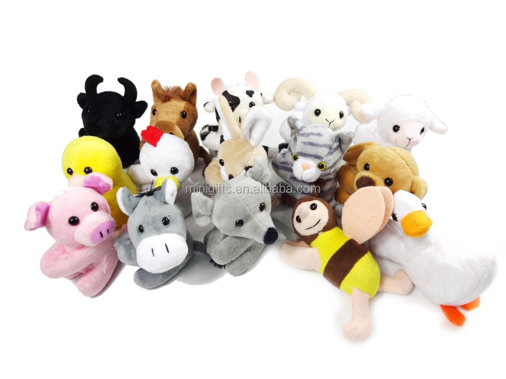 Hot selling Customized Design Animal Shaped Colorful Soft Plush Toys with clip
