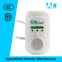 Wall-mounted home gas detective devices with shut-off valve