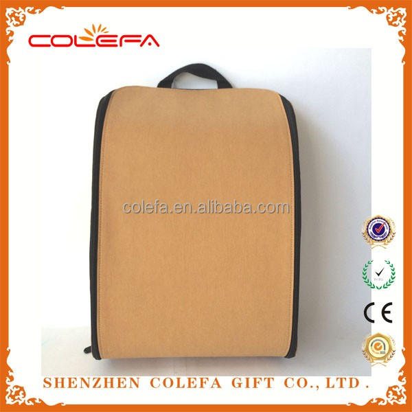 Useful washable Craft Paper Backpack school bag from China